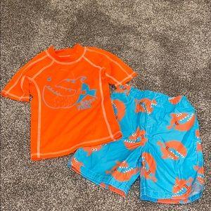 Boys swim trunks with swim shirt